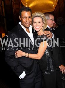 Photo by Tony Powell. Darryl Carter, Mary Haft. PEN/Faulkner Gala. Folger Shakespeare Library. September 20, 2010