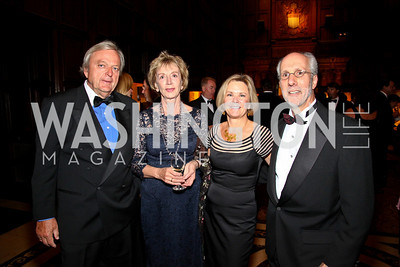 Photo by Tony Powell. Peter and Hanna Woicke, Connie Carter, Tom Gage. PEN/Faulkner Gala. Folger Shakespeare Library. September 20, 2010