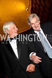 Photo by Tony Powell. Kevin Klose, Tim Seldes. PEN/Faulkner Gala. Folger Shakespeare Library. September 20, 2010