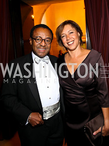 Photo by Tony Powell. Clarence and Lisa Page. PEN/Faulkner Gala. Folger Shakespeare Library. September 20, 2010