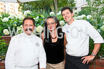 Photo by Tony Powell. Pascal Coudouy, Olvia Demetriou, Joseph Lenn. Park Hyatt Masters of Food & Wine. June 17, 2010