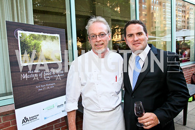 Photo by Tony Powell. Brian McBride, German Broggi. Park Hyatt Masters of Food & Wine. June 17, 2010