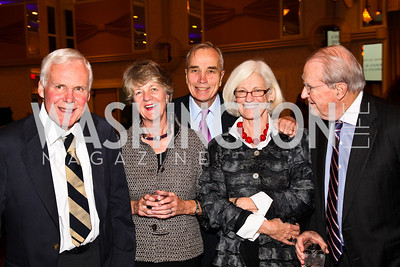 Photo by Tony Powell. George Allen, Rosie Moore, Jon Blake, Elizabeth Shriver, John Queenan. Parkinson's Action Network Dinner. Capital Hilton. October 6, 2010