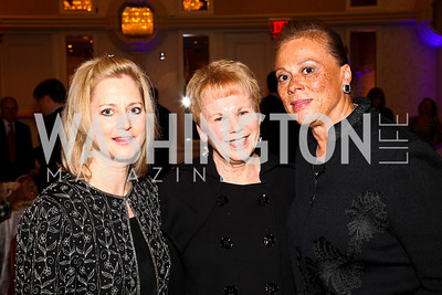 Photo by Tony Powell. Tamra Cantore, Carol Walton, Lonnie Ali. Parkinson's Action Network Dinner. Capital Hilton. October 6, 2010