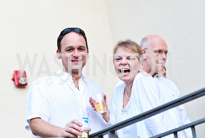 Photo by Tony Powell. Lane Wilson, Gabriela Pohl. Phillips after 5 End of Summer White Party. August 26, 2010
