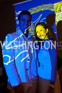 Photo by Tony Powell. Drew Boortz, Lauren Rothe. Phillips after 5 End of Summer White Party. August 26, 2010