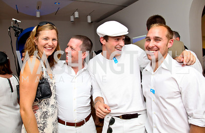 Photo by Tony Powell. Jutta Tobias, Benjamin Cole, Hudson Hollister, Josh Mitchell. Phillips after 5 End of Summer White Party. August 26, 2010