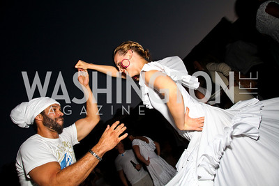 Photo by Tony Powell. Names Thompson, Alina Sabadsih. Phillips after 5 End of Summer White Party. August 26, 2010