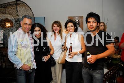 Kyle Samperton,June 30,2010,Plastic Pollution Coalition at Muleh,Hamid Kazemi,Kathy Jalali,Natalie Baratpou,Marjan Roshankar,Amir Roshankar