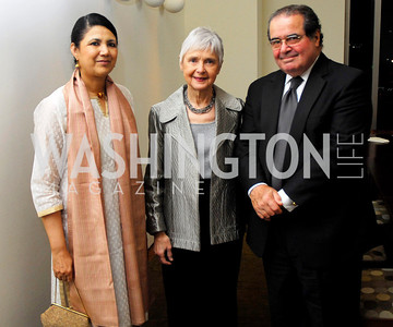 Meera Shankar, Maureen Scalia, Anton Scalia. Porgy and Bess Cast Pary. March 20, 2010. Photo by Kyle Samperton.
