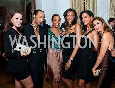 Natasha Hayden, Paul Wharton, Stacie Turner, Lauren Bias, Mary Barth, Delband Vazir. Photo by Tony Powell. Young and the Guestlist. Washington Club. April 15, 2010