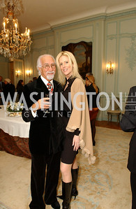 Ahmad Esfandiary, Michaele Salahi.  Supporters unite to confront the global trafficking in women and children at the Belgian Embassy in Washington, DC on Wednesday, June 19, 2008.  (James R. Brantley)
