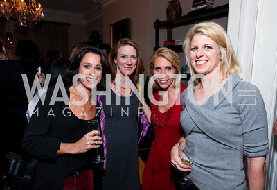 Susan Toffler, Cathy St. Denis, Dana Bash, Penny Lee. Goldman Sach's 10,000 Women event at Juleanna Glover Weiss' residence for The Rebecca Project. November 14, 2009. photos by Tony Powell