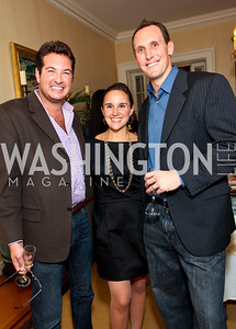 Marc Adelman, Katie McCormick-Lelyveld, Brian Lubitz. Goldman Sach's 10,000 Women event at Juleanna Glover Weiss' residence for The Rebecca Project. November 14, 2009. photos by Tony Powell