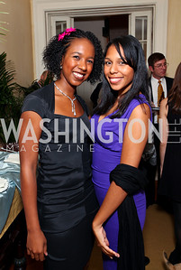Tori Gordon and Faiza Mathon. Goldman Sach's 10,000 Women event at Juleanna Glover Weiss' residence for The Rebecca Project. November 14, 2009. photos by Tony Powell