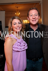 Sarah Feinberg and Mike Feldman. Goldman Sach's 10,000 Women event at Juleanna Glover Weiss' residence for The Rebecca Project. November 14, 2009. photos by Tony Powell