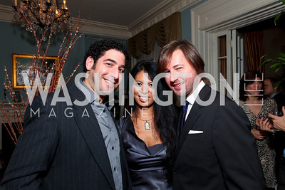 Lee Brenner, Christina Sevilla, Christopher Reiter. Goldman Sach's 10,000 Women event at Juleanna Glover Weiss' residence for The Rebecca Project. November 14, 2009. photos by Tony Powell