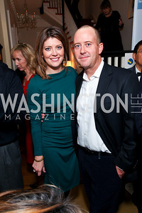 Norah O'Donnell and Geoff Tracy. Goldman Sach's 10,000 Women event at Juleanna Glover Weiss' residence for The Rebecca Project. November 14, 2009. photos by Tony Powell