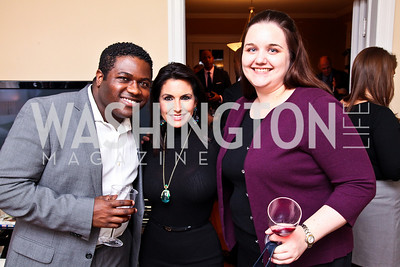 Photo by Tony Powell. Querry Robinson, Rose Procopio, Collen King. Richard Wolffe Book Party. November 30, 2010