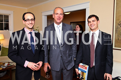 Photo by Tony Powell. Michael Falcone, Jim Courtovich, Reese Blackwell. Richard Wolffe Book Party. November 30, 2010