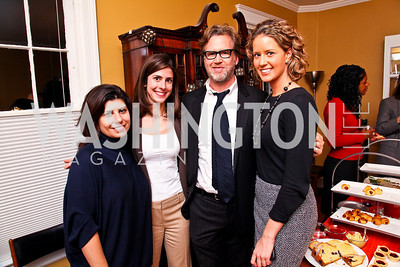 Photo by Tony Powell. Carrie Budoff Brown, Julianna Goldman, Ned Martel, Sunlen Miller. Richard Wolffe Book Party. November 30, 2010