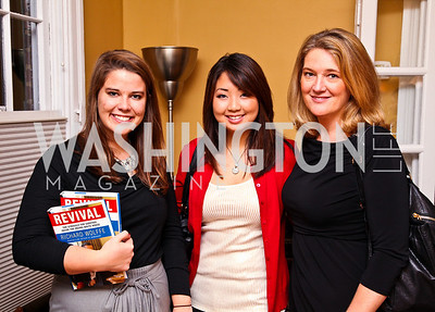 Photo by Tony Powell. Mallory Evans, Ally Seibert, Camille Johnston. Richard Wolffe Book Party. November 30, 2010