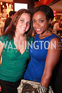 Erinn Dooley and Olympic gold medalist Dominique Dawes. Ryan Zimmerman's A Night at the Park. Photos by Alfredo Flores
