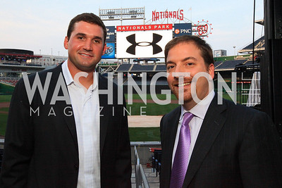 Ryan Zimmerman. Chuck Todd. Ryan Zimmerman's A Night at the Park. Photos by Alfredo Flores