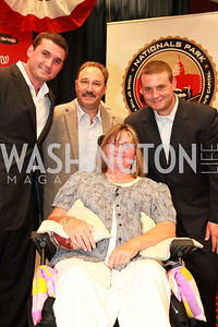 Ryan Zimmerman, Keith Zimmerman, Cheryl Zimmerman. Ryan Zimmerman's A Night at the Park. Photos by Alfredo Flores