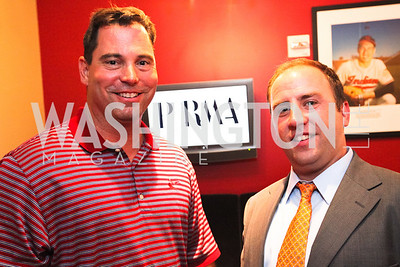 Phrma's Chip Davis and John Marchant.  Ryan Zimmerman's A Night at the Park. Photos by Alfredo Flores