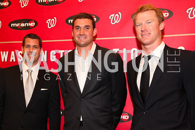 Brodie Van Wagenen. Ryan Zimmerman. Tom Hagan. Ryan Zimmerman's A Night at the Park. Photos by Alfredo Flores