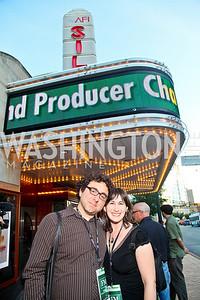 "Photo by Tony Powell. Lorin Wertheimer, Filmmaker Robin Hessman. Opening Night of SilverDocs: ""Freakonomics"". June 21, 2010"