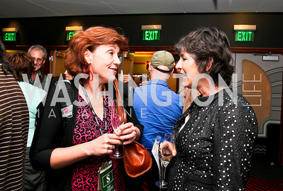"Photo by Tony Powell. Kyle O'Connor, Vicki Warren. Opening Night of SilverDocs: ""Freakonomics"". June 21, 2010"