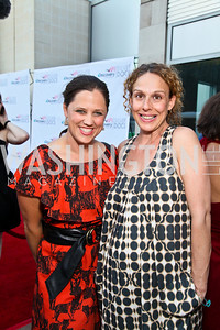"Photo by Tony Powell. Directors Heidi Ewing, Rachel Grady. Opening Night of SilverDocs: ""Freakonomics"". June 21, 2010"