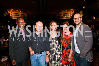 "Photo by Tony Powell. Alvin Hall, Alex Gibney, Rachel Grady, Heidi Ewing, Chad Troutwine. Opening Night of SilverDocs: ""Freakonomics"". June 21, 2010"