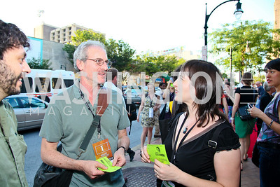 "Photo by Tony Powell. Doug Block, Filmmaker Robin Hessman. Opening Night of SilverDocs: ""Freakonomics"". June 21, 2010"
