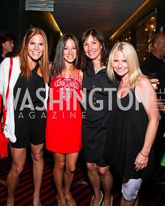 """Photo by Tony Powell. Jodi Zamoiski, Stacy Ferguson, Arlene Wechsler, Barbie Zamoiski. Opening Night of SilverDocs: """"Freakonomics"""". June 21, 2010"""