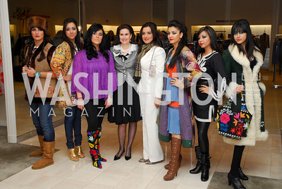Alexandra deBorchgrave, Mariam Atash Nawabi. Silk Road Style at Saks. December 12,2009. Photo by Kyle Samperton.