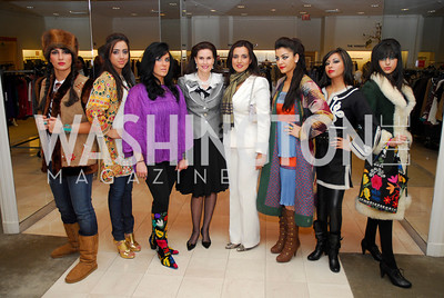 Alexandra deBorchgrave ,Mariam Atash Nawabi. Silk Road Style at Saks. December 12,2009. Photo by Kyle Samperton.