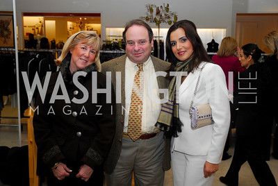 Laura Cowan, Mark Cowan, Mariam Atash Nawabi.Silk Road Style at Saks. December 12,2009. Photo by Kyle Samperton.