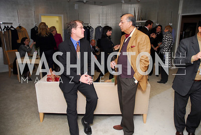 Steve Clemmons, Shuja Nawaz. Silk Road Style at Saks. December 12,2009. Photo by Kyle Samperton