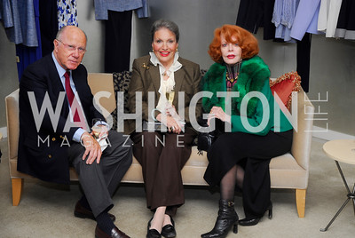 Arnaud deBorchgrave, Cyd Everett, Joanne Bauers. Silk Road Style at Saks. December 12,2009. Photo by Kyle Samperton.