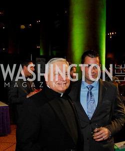 Father Bill George, Michael Fanone. St. Judes Gourmet Gala. February 16, 2010. Photo by Kyle Samperton.