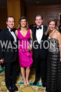 "Photo by Tony Powell. Geoff Tracy, Norah O'Donnell, Nels Olson, Heather Musser. Starlight ""Bedtime Bash"". Four Seasons Hotel. November 20 2010"