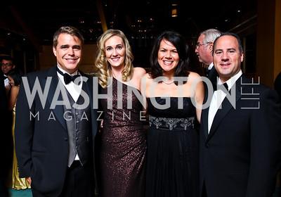 "Photo by Tony Powell. Fred and Britlan Malek, Stephanie and John Polis. Starlight ""Bedtime Bash"". Four Seasons Hotel. November 20 2010"