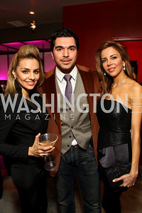"Nicole Miknam, Alex Mesbahi, Heidi Hashem. Starlight ""Toast To The Stars"" Winter Gala. District. photos by Tony Powell"