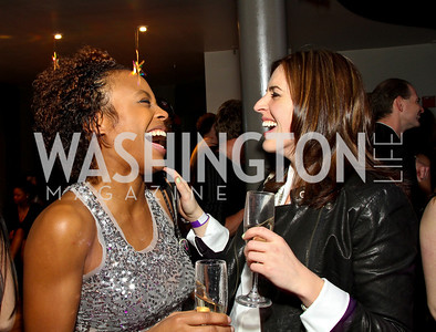 "Hot 99.5's Tiffany Keaton and Sarah Fraser. Starlight ""Toast To The Stars"" Winter Gala. District. photos by Tony Powell"
