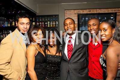 "Evan Rose, Jasmine Woodard, Kiah Dixon, Brandon Kelley, Malcolm Jones, Brittany Williams. Starlight ""Toast To The Stars"" Winter Gala. District. photos by Tony Powell"