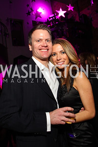 "Tyler Beardsley and host Taylor Morris. Starlight ""Toast To The Stars"" Winter Gala. District. photos by Tony Powell"