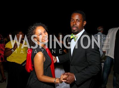 Photo by Tony Powell. Teresa Weathington, Andrew Vinson. Step Afrika. Homecoming 2010. Lansburgh Theatre & Harman Center. June 19, 2010